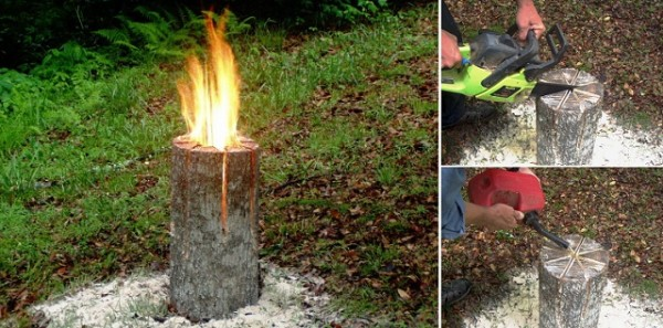 Campfire Fun - Swedish Log Candle