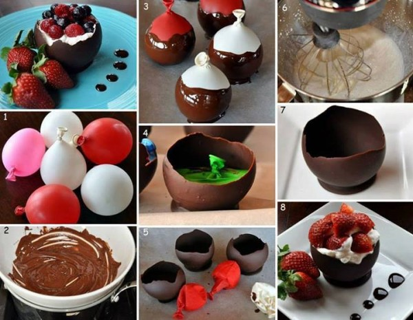 How To Make Chocolate Bowls 1