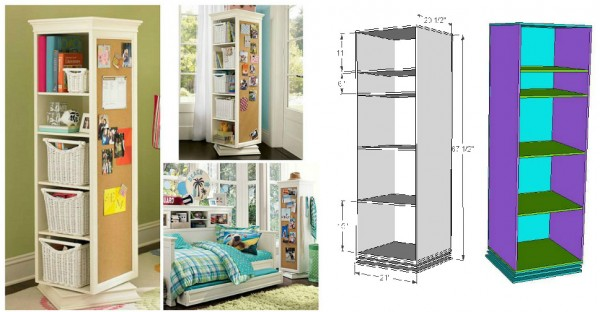 Rotating Storage Units DIY Plan