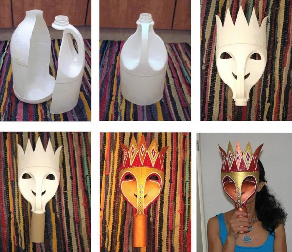 Carnival Masks With Recycled Milk Jug
