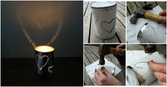 DIY Lanterns With Recycled Tin Cans