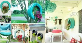 DIY Tire Garden Tutorial