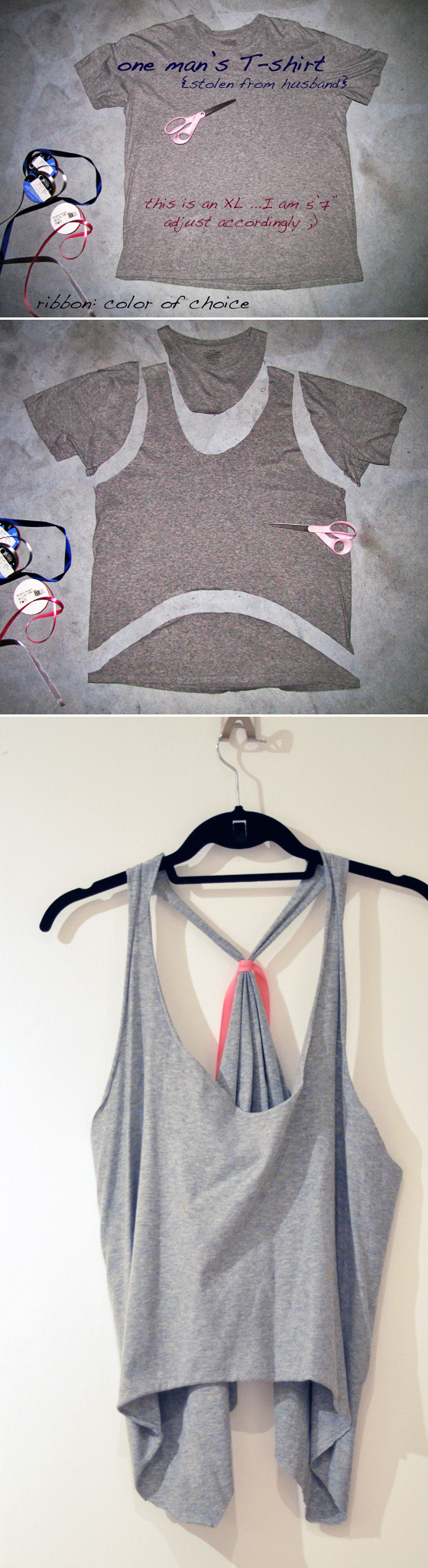 How To Make T Shirts Into Tank Tops 1