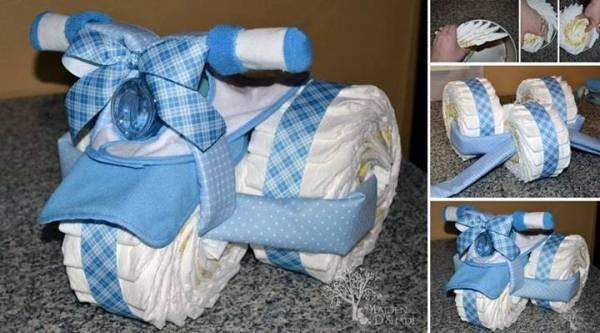 How To Make Tricycle Diaper Cakes
