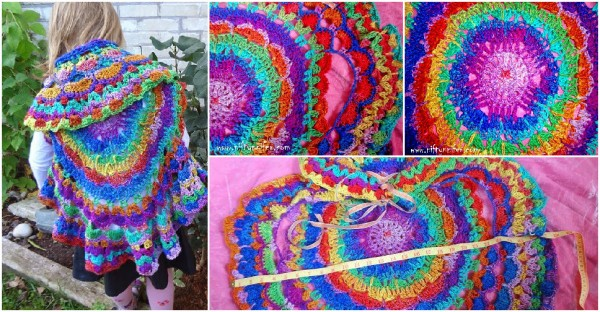 Kaleidoscope Dream Circle Vest Free Crochet Pattern