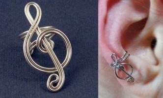 DIY Craft Project - Treble Clef Ear Cuff 1
