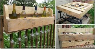 DIY Pallet Wine Rack 1